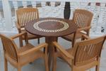 Универсален стол от пластмаса стифиращ, за външно използване