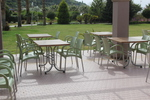 Пластмасови здрави столове за лятно заведение