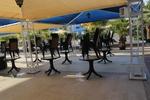 Пластмасова маса за хотел, за външно ползване