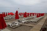 Шезлонги за плажна ивица, текстилни