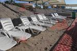 Модерен плажен шезлонг за плажна ивица