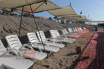 Шезлонги за плажна ивица за външно ползване