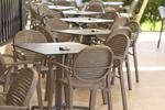 Пластмасови кафяви столове, с доставка