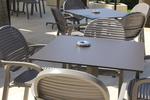 Пластмасови кафяви столове, за градината