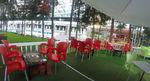 Градински столове червени, пластмаса