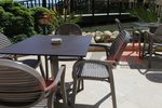 Градински кафяви столове от пластмаса
