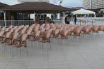 Пластмасови столове за лятно заведение, промоция