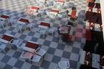 Градинска маса за ресторант, произведена от пластмаса