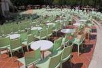 Пластмасови столове на промоция, за заведения