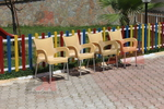 Пластмасов стол за плаж, за външно ползване