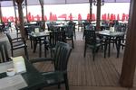 Стифиращи, зелени пластмасови столове
