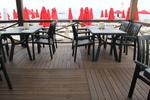 Пластмасови зелени столове, за басейн