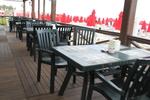 Пластмасови зелени столове, за открито