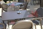 Градински пластмасови кафяви столове