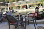 Пластмасови кафяви столове, за открито