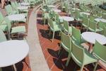 Градински столове за кафене, от пластмаса