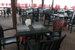 Пластмасов зелен стол за кафене