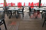 Пластмасови зелени столове за хотели