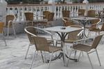 Стол от метал за дома,заведението,кафенето,градината