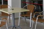 Модерен метален стол за плаж