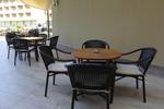 Евтин метален стол за открити пространства
