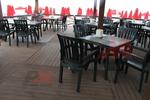 Пластмасов зелен стол за бар