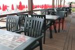 Пластмасови зелени столове за сладкарници