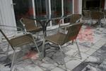 Метални столове за външно ползване с различни седалки