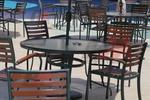Метален стол за открити пространства цени