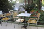 Здрави метални столове за басейн