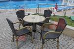 Метални бази за маса за хотел