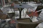 Столове,произведени от метал за заведения,различни модели
