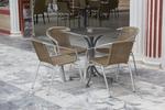 Столове,произведени от метал за лятно заведение,различни модели