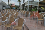 Градински алуминиеви столове за лятно заведение