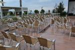 Универсален стол от алуминии за ресторант за вътрешно и външно използване