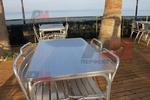 Алуминиева двойна маса за заведения за открити пространства
