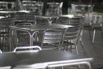Метална маса за кафенета за открити пространства