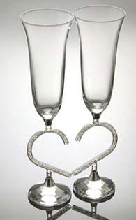 Кристални чаши за сватба -02 - 2бр