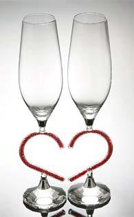 Кристални чаши за сватба -05  - 2бр