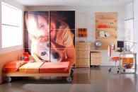 детска стая 160 с гардероб принт стъкло