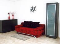 Мека мебел в черно и червено