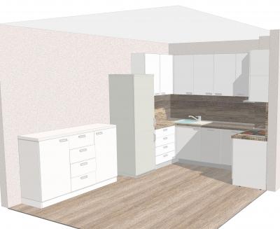Проектиране и изработка на кухненски мебели за  София фирма