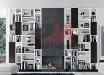 Стилна модулна композиция за хол по поръчка за  София магазин