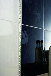 плочки за баня, модел: Ашанти черно