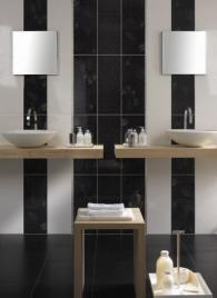 плочки за баня, модел: Ашанти Черно 01