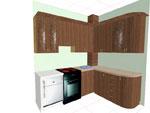 Проекти на интериор за кухня 126-2616