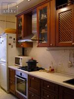 Кухня по поръчка в кафяво 199-2616