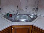 Кухня с ъглова мивка по поръчка 201-2616
