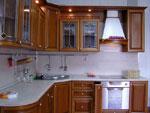 Кухня по поръчка със заоблен плот 203-2616