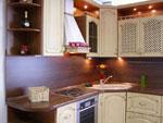 Кухня по поръчка - цвят шоколад и слонова кост 207-2616
